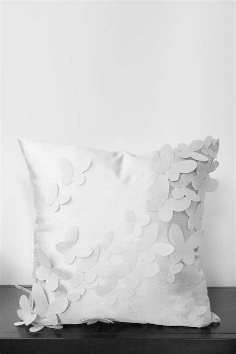 Pale Blue/Light Gray Butterfly Pillow// | | Pinterest