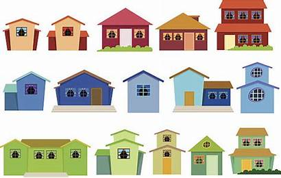 Row Houses Clipart Vector Clip Illustrations Graphics
