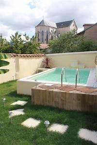 Piscine Semi Enterrée Coque : piscine semi enterr e vert et bleu piscine ~ Melissatoandfro.com Idées de Décoration
