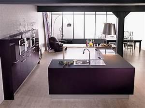 meuble cuisine aubergine With modele de maison en l 13 cuisine lapeyre prix quelle cuisine lapeyre acheter