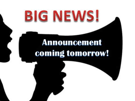 Announcement Coming Soon!