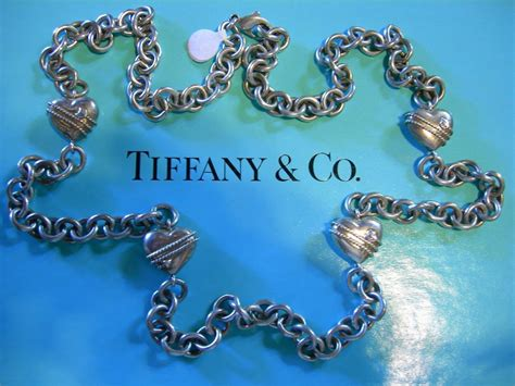 antique tiffany ls for sale sale tiffany co sterling 35 quot heart chain necklace