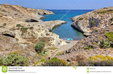 Kapros Beach, Milos, Cyclades, Greece Stock Image Image