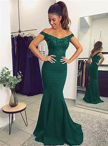V Neck Long Navy Blue Mermaid Evening Dresses Lace Off The ...