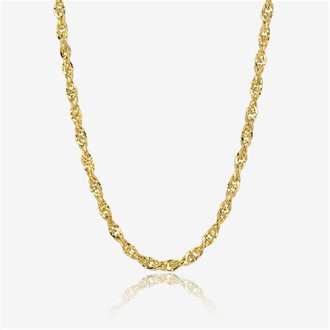 ct gold  singapore style chain