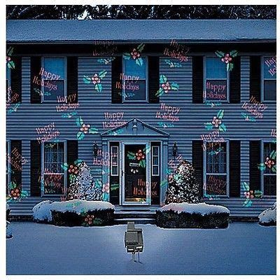 christmas outdoor motion light projector snow holiday