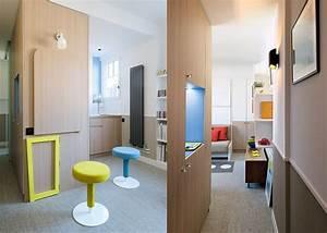 un studio ultra fonctionnel sous les toits marie claire With beautiful meuble gain de place cuisine 4 architectes paris studio gain de place paris