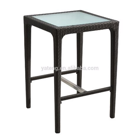 cheap aluminum rattan bar table and stool used bistro set