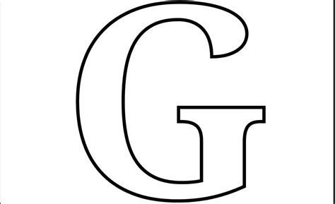4 Best Images Of Large Printable Bubble Letter G