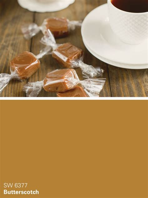 sherwin williams brown paint color butterscotch sw