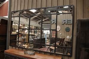 Deco Murale Industrielle : miroir industriel metal ~ Teatrodelosmanantiales.com Idées de Décoration
