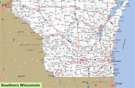 map  southern wisconsin
