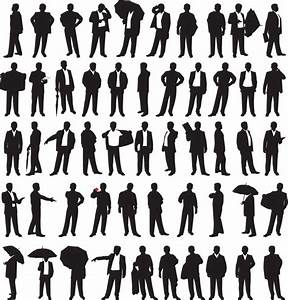 Business Person Outline Clipart