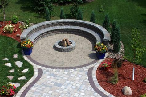 unilock trevia the circular patio created with unilock trevia pavers in