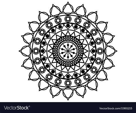 Mandala Geometric Pattern In Buddhist And Hindu Vector Image