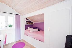Kinderbett Unter Dachschräge : kinderzimmer mit dachschr ge leseecke und einbauschrank ~ Michelbontemps.com Haus und Dekorationen