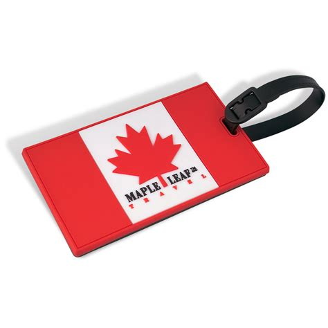Luggage Tag canadian flag poster luggage tag with security id maple