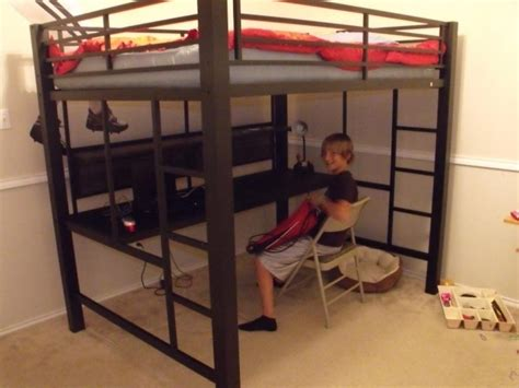 loft bed with desk full size mattress full size metal loft bed with desk