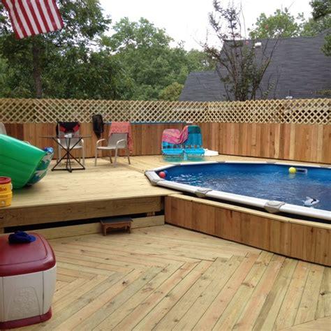 pool  deck build   hubby pool pinterest