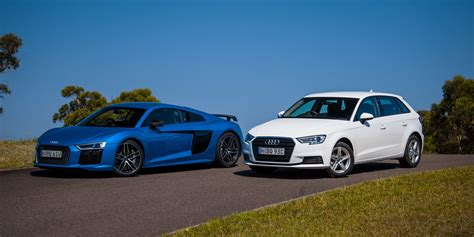 Audi R8 V10 Plus v Audi A3 1.0 TFSI comparison - Photos