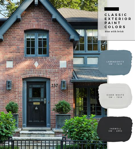 classic exterior paint colors blue with brick room for tuesday