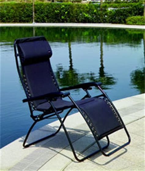 faulkner black padded deck patio folding lounge chair