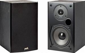 Polk Audio 5-1  4 U0026quot  Bookshelf Speakers Pair Black T15 Black