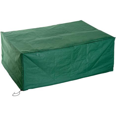 housse de protection salon de jardin housse de protection etanche pour meuble salon de jardin rectangulaire 210l x 140l x 80h cm vert