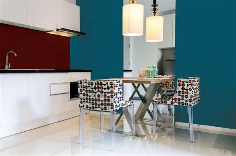 cuisine bleu canard peinture bleu canard murale d 233 cohom