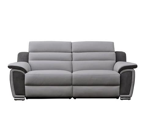 canap 2 places relax lectrique canapé 2 places 2 relax électrique cuir micro gris clair