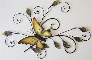 butterfly wall art uk wallartideasinfo With best brand of paint for kitchen cabinets with metal butterflies wall art