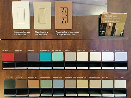 lutron color samples   fixtures close  retailpop