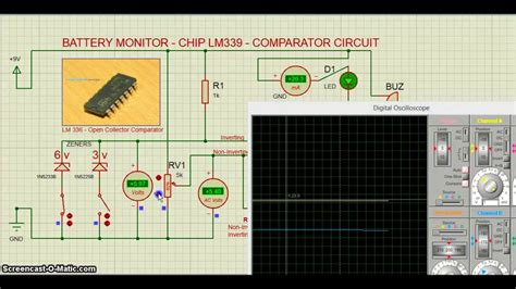 Proteus Battery Monitor Circuit Youtube