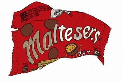 Packet Maltesers Pop Drawings Drawing Chocolate Wrappers
