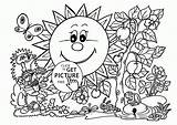 Coloring Pages Garden Gardening Tools Spring Printable Sunny Seasons Print Adults Printables Getcolorings sketch template
