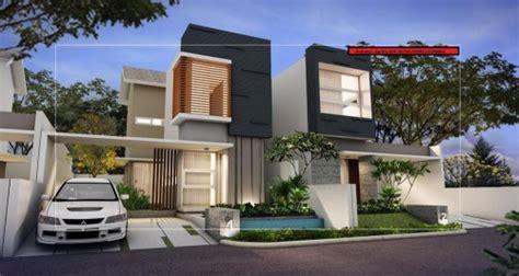 rumah minimalis modern  lantai  konsep alam