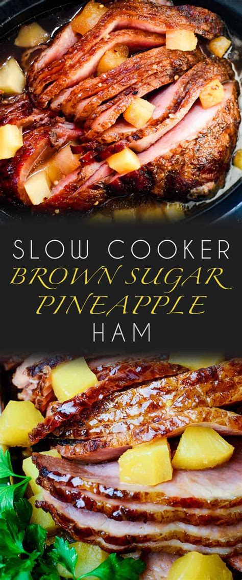 ham pineapple sugar brown cooker slow recipe chicken cook easy slowcooker go cabbage