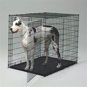 Heavy duty wire dog crates for small to extra large dog for Extra wide dog crate