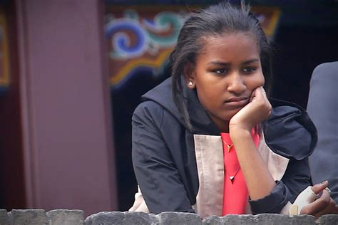 """Sasha Obama """"is Not Impressed"""" In China — But Leave Her"""