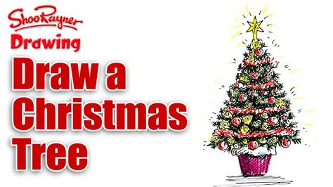 draw  christmas tree youtube