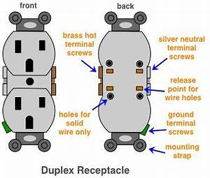 Diagram Of A Duplex Receptacle In 2019
