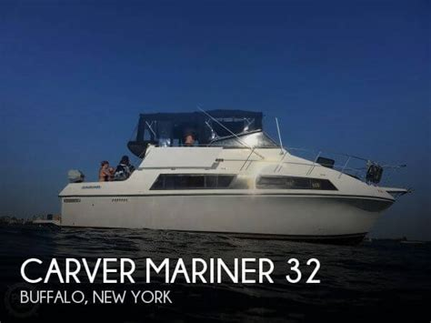 Pontoon Boats For Sale Buffalo Ny by For Sale Used 1986 Carver Mariner 32 In Buffalo New York