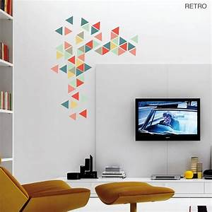 geometric triangles vinyl wall sticker set wall stickers With what kind of paint to use on kitchen cabinets for father s day stickers
