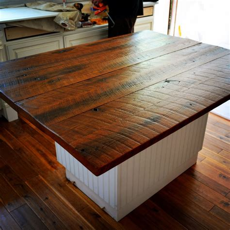 wood tops for kitchen islands 20 ideas for installing a wooden countertop at your home