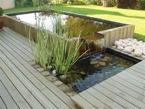 bassin de jardin fontaine de jardin paysagiste 63 With bassin de terrasse en bois