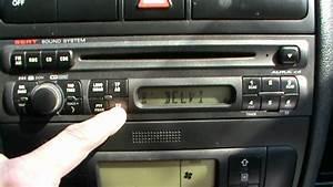 How To Reset Seat Leon Car Stereo Radio Unit Remove