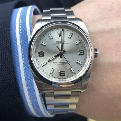 [Rolex Oyster Perpetual] 34mm Silver Dial, my first watch ...
