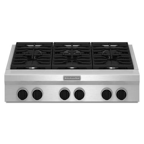 gas cooktop reviews kitchenaid 36 quot gas rangetop review rating kgcu467vss