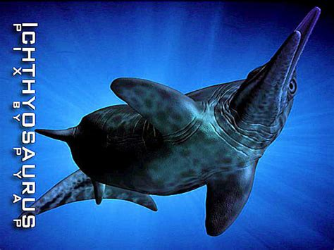 ichthyosaur dinosaur marine reptiles pz pp poser
