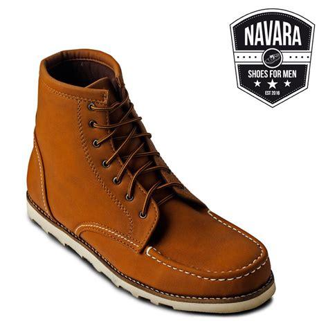 jual navara king brown sepatu boots di lapak dunia